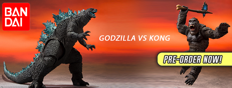 Godzilla vs Kong Figures from Bandai