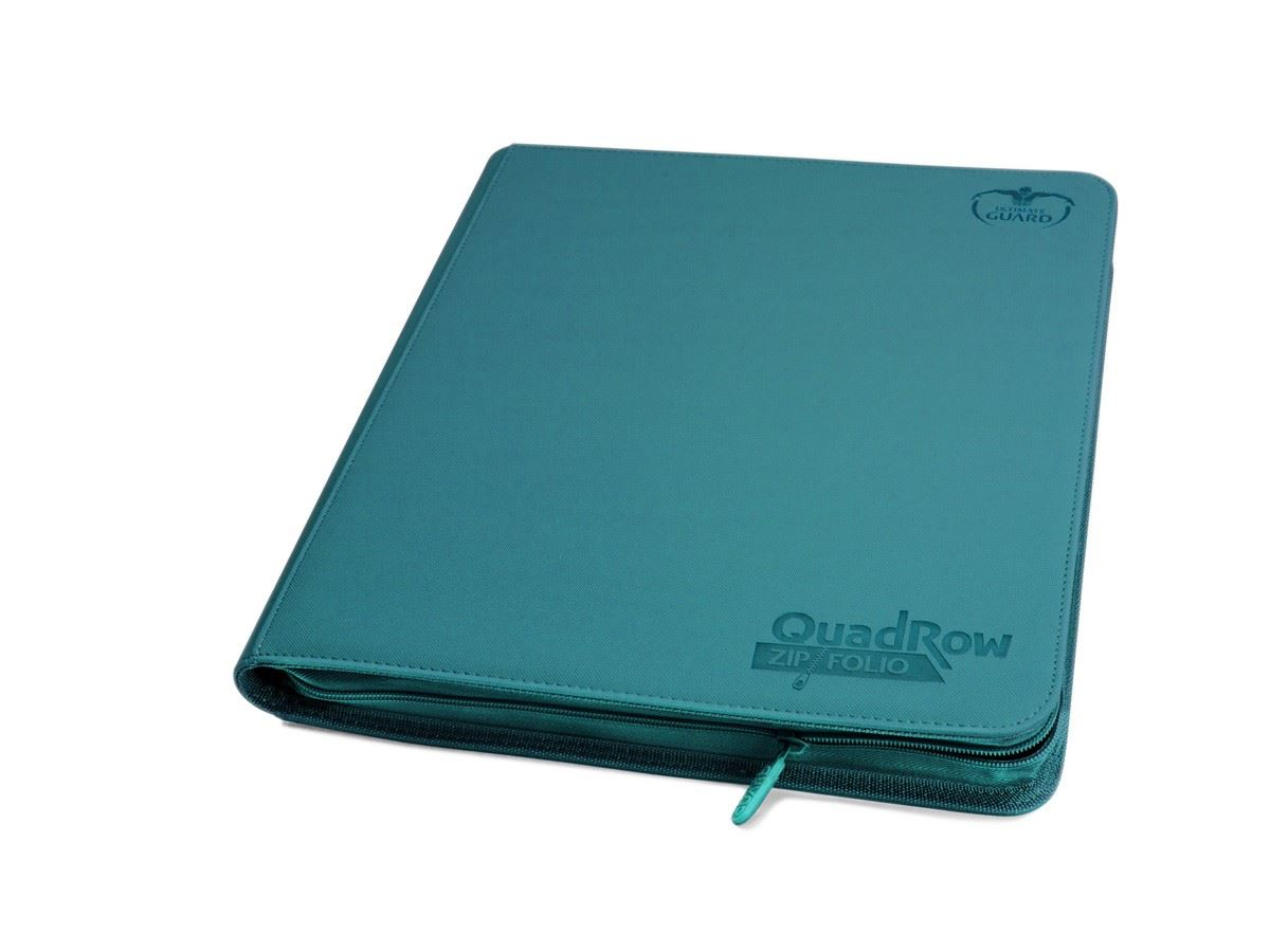 Ultimate Guard 12-Pocket Quadrow Zipfolio Xenoskin Petrol