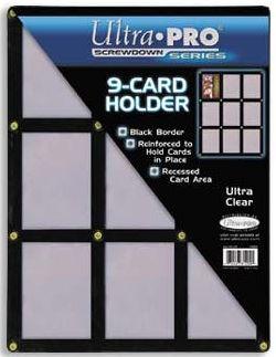 f4e824a8468 Ultrapro Black Screwdown 9-Card Holder - ULPSD81204