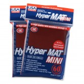 KMC Small Sleeves USA Pack Hyper Matte Red 60-Count