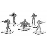 Monsterpocalypse - C-Type Shinobi and Shadow Rider - Shadow Sun Unit (metal)